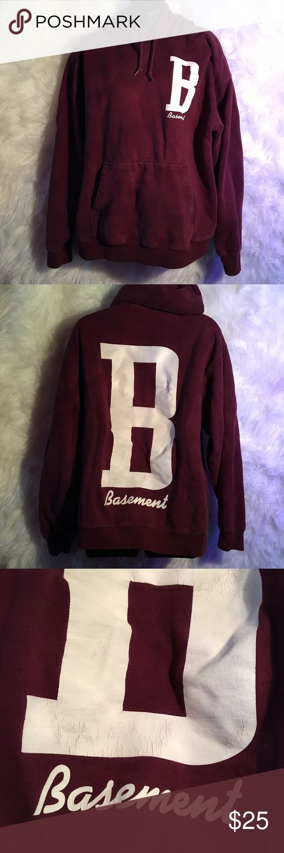 Basement Band Hoodie Hoodie by the band Basement. No flaws except a tiny bleach stain on the left arm. Size L. All clothing sold will be washed and ironed before shipment! Cold Cuts Merch Tops Sweatshirts & Hoodies