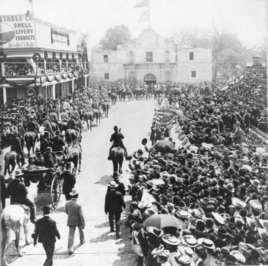 Teddy Roosevelt at the Alamo  (we're going to do a Teddy Roosevelt unit study soon!)