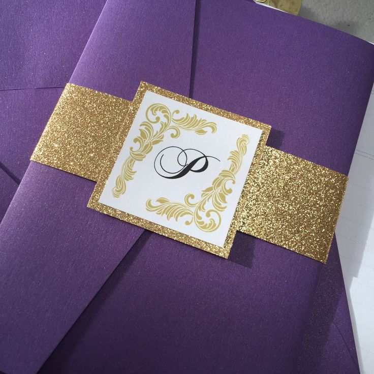 1000 ideas about purple invitations on pinterest With purple and gold wedding invitations set