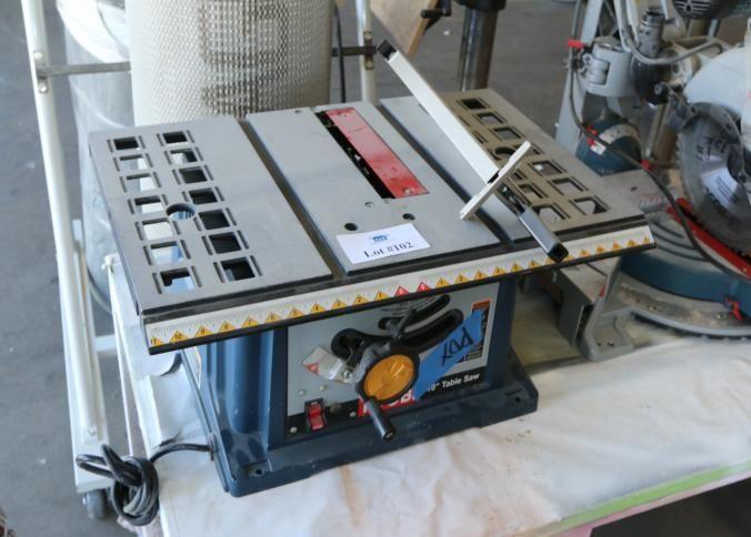 "Ryobi 10"" table saw model BTS10, serial number X021873594"