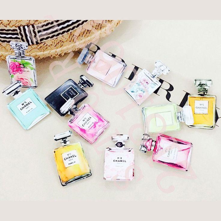 1 UNIDS Perfume Serie Badges El Envío Libre De Acrílico Insignia Pin Kawaii Decoración Mochila Iconos Pasadores Insignias