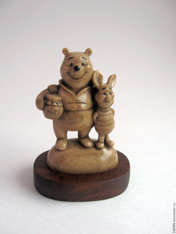 Купить Винни Пух и Пятачок - Винни Пух, пяточок, медведь, поросенок, мультфильм, фигурка