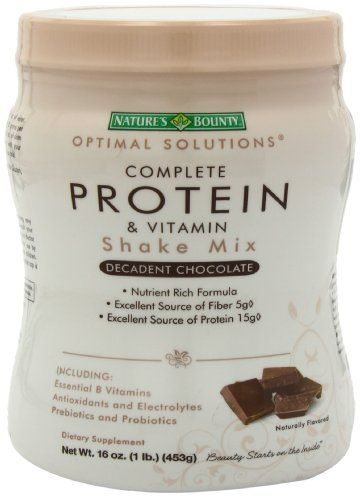 Nature's Bounty Protein Shake Mix, Chocolate, 16 Ounce