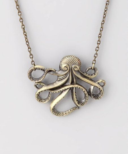 So this isn't for everyone, but it might be the perfect gift for the hipster girl in your life. (Because oh my gosh these eight-legged creatures really are incredible.) :: Antique Gold Octopus Necklace