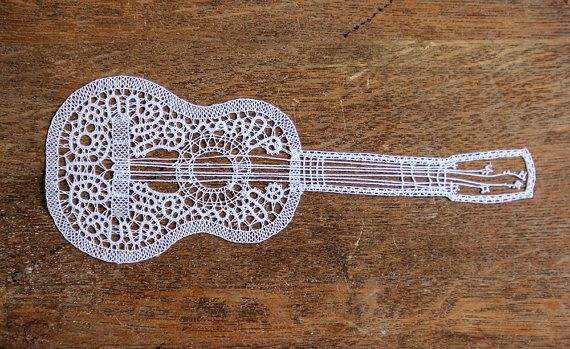 Small Guitar by iCipka on Etsy, $35.00 I LOVE THIS!!!!!!!!!!!!!!!!!!!!!!!!!!!!!!!!!!!!