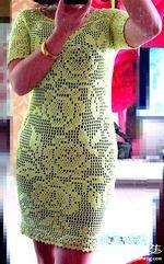 Салатовое филейное платье. Обсуждение на LiveInternet - Российский Сервис Онлайн-Дневников