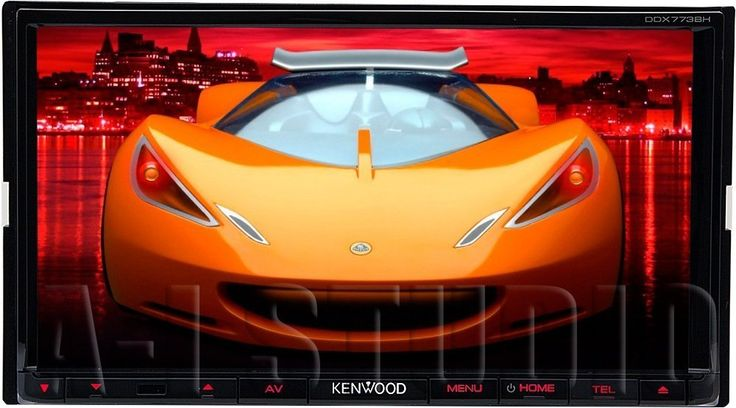 """Kenwood DDX773BH 6.95"""" In Dash Touchscreen DVD CD Receiver with built in Bluetooth, AM/FM Tuner and HD Radio. DVD/CD receiver with AM/FM tuner 