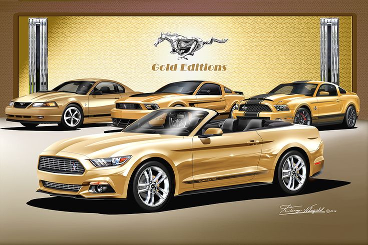 Mustang Gold Editions fine art print by Danny Whitfield