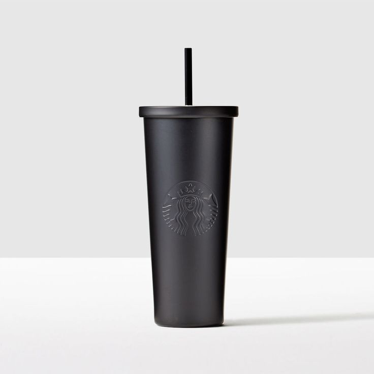 Matte Black Stainless Steel Cold Cup. Clean, simple design made for all your favorite cold drinks.