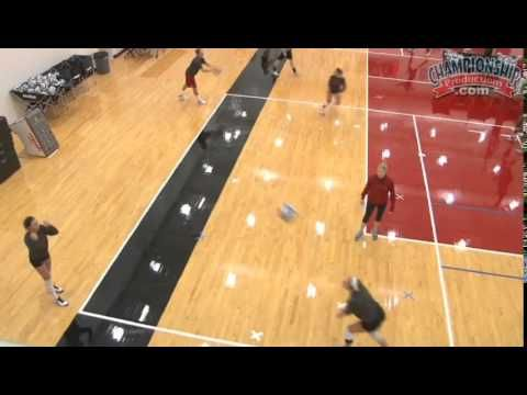 Serve receive drill for 9 High School Volleyball: Dynamic Practice Design and Drills - YouTube