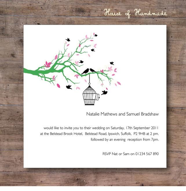 Floral Birdcage Wedding Invitations £58.00