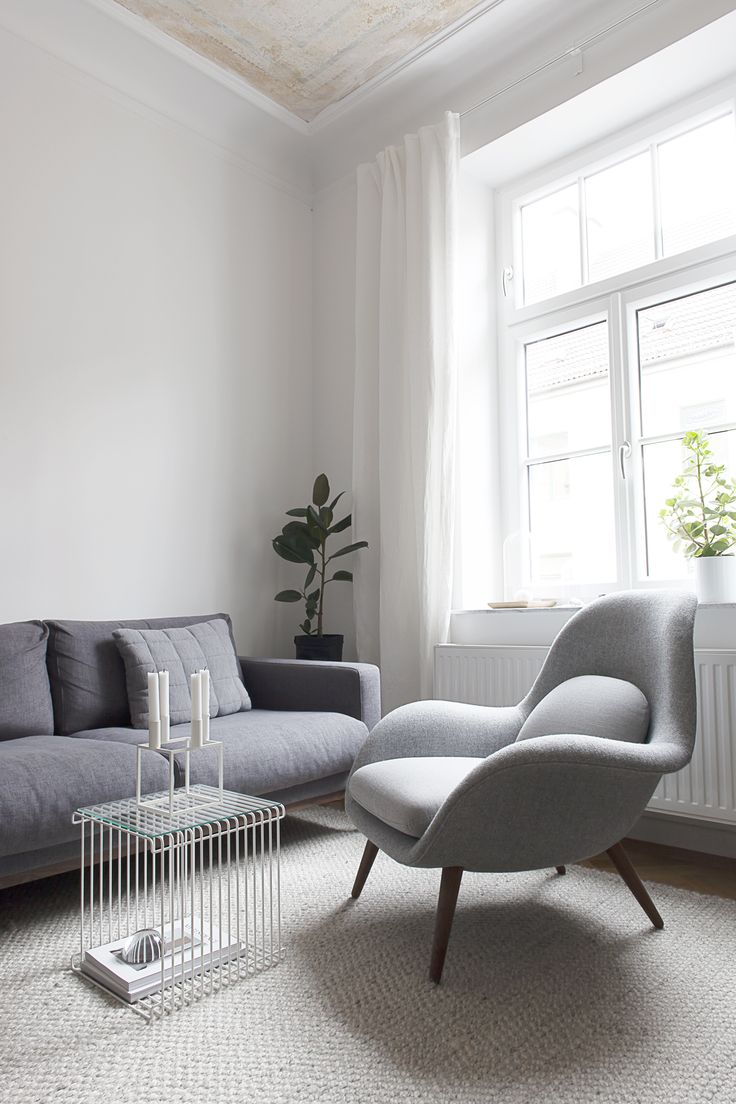 'Swoon' by Space Copenhagen for Fredericia grey living room