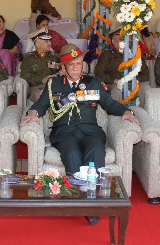 SSB is grateful to Gen #BipinRawat #ArmyChief who attended #SSBAnniversary Parade and added to its stature @adgpi  Gen Rawat was a picture of poise elegance humility and dignity.  The Central Armed Police Forces work in tandem with the Army and such interactions go a long http://way..pic.twitter.com/AfeXZTazYg #IndianArmy #Army