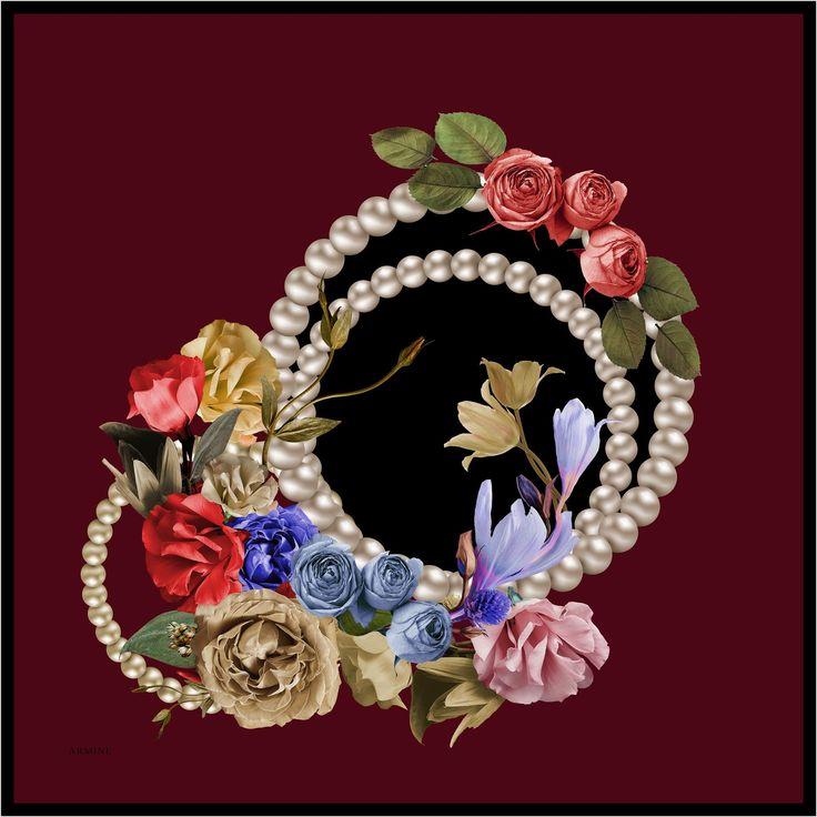Armine's Naamah Modest Women's Headscarf Only $39.99 Free Shipping Worldwide www.zainap.com - #scarf #silkscarves #zainap #hijab #luxuryaccessories #shawl #design #outfit #art #mothersday