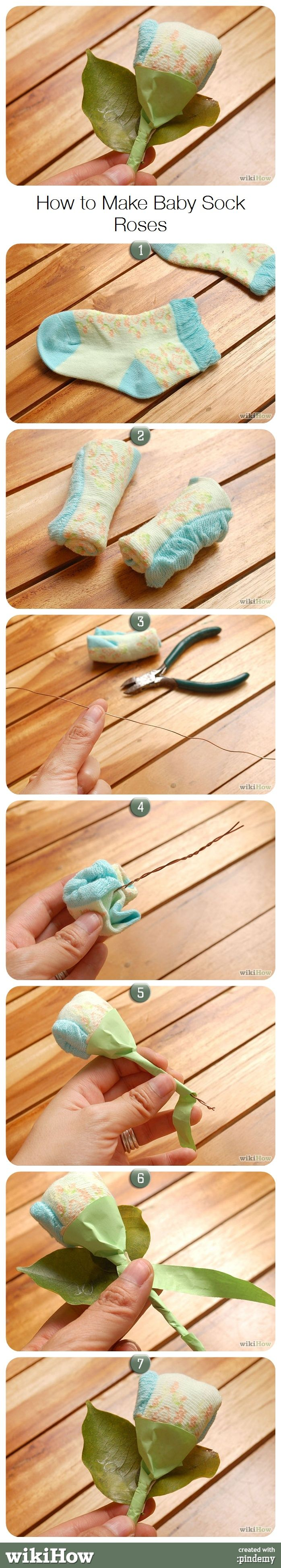 Best 25 baby sock corsage ideas on pinterest baby sock bouquet how to make baby sock roses negle Image collections