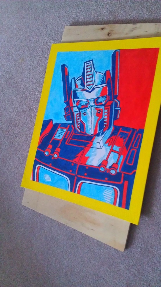 I found this image on Google, so I had to paint it for my boyfriend who loves Transformers.  #Art #Transformers #Oilpaint #Acrylicpaint
