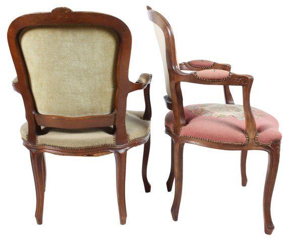 Louis XVI-Style Fauteil Chairs, S/2 $595.00