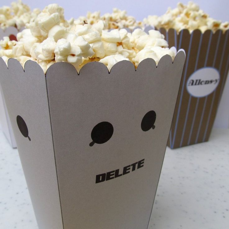 Cybermen Popcorn Holder for Doctor Who 50th Anniversary party!