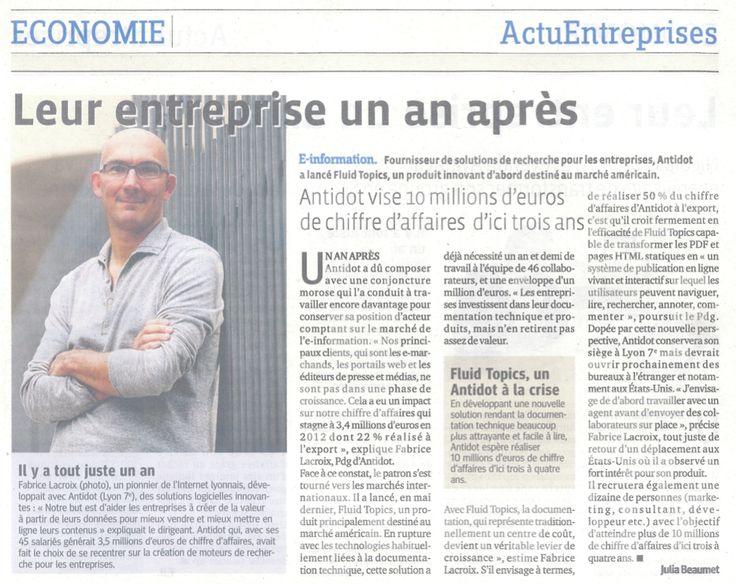 Une demi-page sur Antidot et Fabrice Lacroix dans le Progrès, à l'occasion de la conférence Blend Web Mix qui se tient aujourd'hui et demain à Lyon.