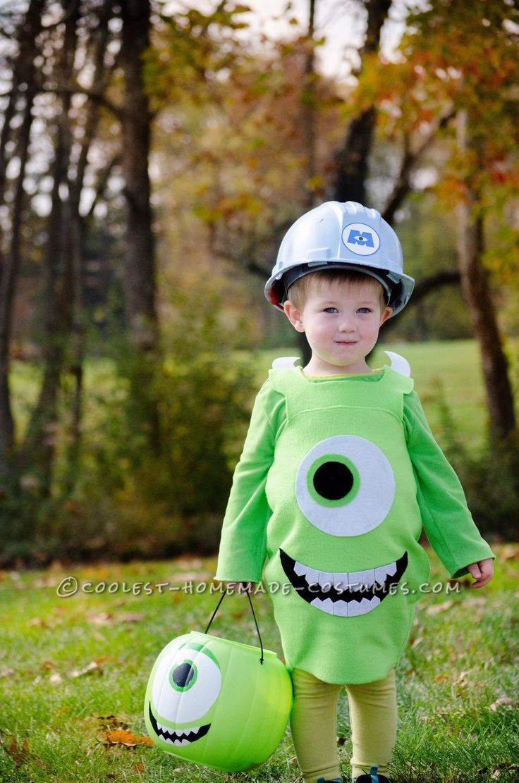 Cool Monsters Inc. Mike Wazoski Toddler DIY Costume... Coolest Halloween Costume Contest