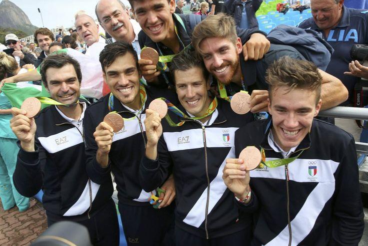 Domenico Montrone,Matteo Castaldo,Matteo Lodo e Giuseppe Vicino-BRONZO (canottaggio 4 senza) Rio 2016