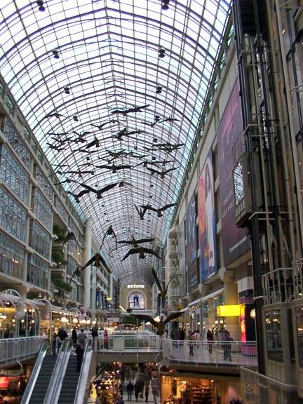 """michael snow canada geese in the eaton center. 1981, couple of years after it was put up. they decided to put up bows on the necks of the geese during christmas - michael snow didn't want them on. """"distorted mutilated by owner , author."""" won the case snow vs the eaton center. changed the legislation. any change or alteration of a sculpture painting etc. is considered an offense and violation of the author."""
