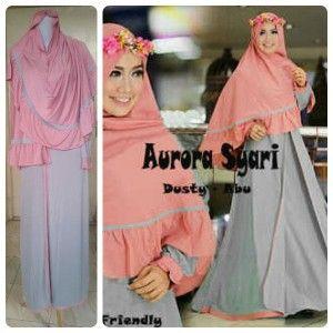 baju gamis muslim, Model Baju Gamis Muslim Aurora, toko baju muslim, baju gamis wanita, pusat gamis terbaru, baju gamis murah online, model gaun muslim, butik busana muslim online
