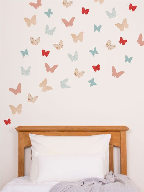 Butterflies woodland wall decals wall decals wall decor tinyme com