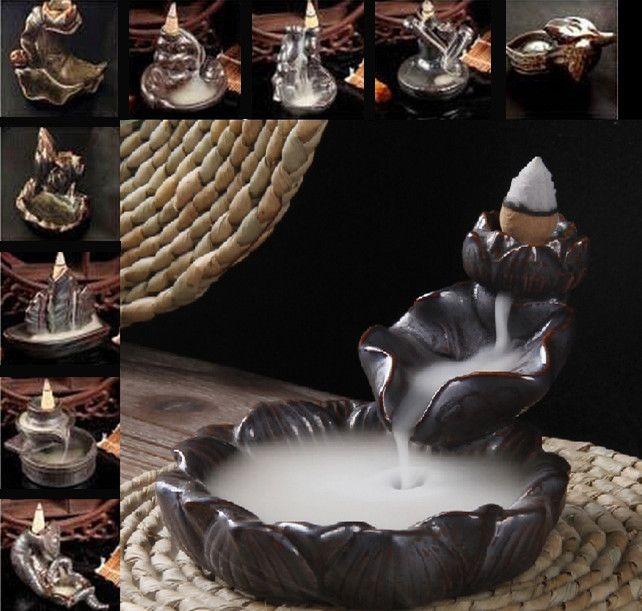 12 styles Ceramic Crane Incense Burner smoke backflow Laoshan sandalwood incense stove Tower Censer down stream smoke back down-in Incense & Incense Burners from Home & Garden on Aliexpress.com | Alibaba Group