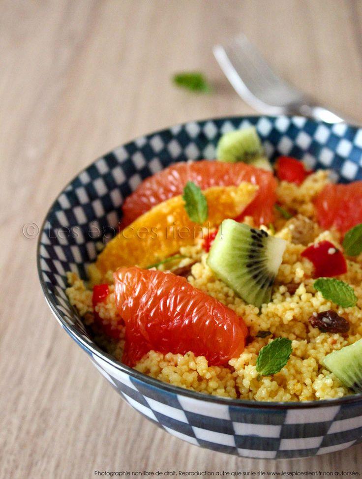Taboulé Tutti Frutti et sa vinaigrette miel, gingembre et orange