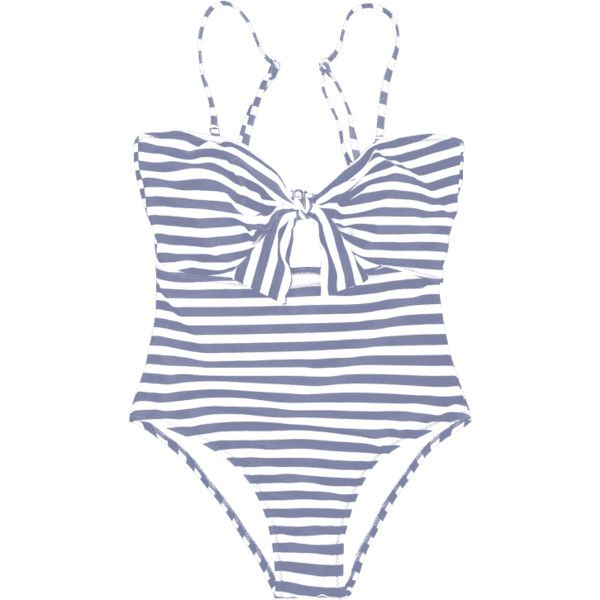 Striped Knot Cut Out One Piece Swimsuit ($13) ❤ liked on Polyvore featuring swimwear, one-piece swimsuits, swimsuits, one piece swimsuit, cut-out one piece swimsuits, 1 piece bathing suits, cutout one-piece swimwear and one piece cut out bathing suit