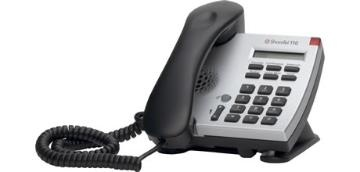 ShoreTel IP Phone 110  The single-line IP 110 is a cost-effective telephone ideal for open areas including lobbies, classrooms and dorm rooms. The IP 110 has six feature keys for common operations, a one-line display for caller ID, date and time, and a speaker for one-way intercom. Like all ShoreTel IP phones, the IP 110 features an integrated Ethernet switch, allowing a network drop to be shared with a desktop PC.