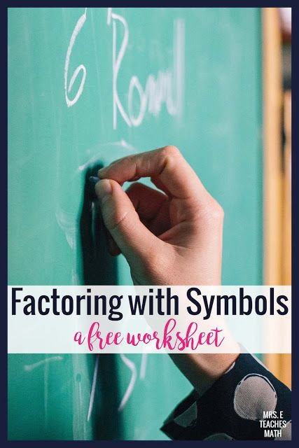 Factoring with Symbols | Algebra 2 | Pinterest | Algebra, Math and ...
