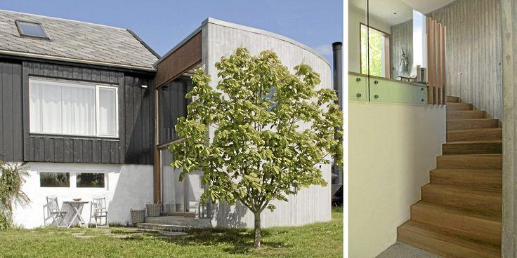 60-talls arkitektur fikk tilbygg i betong som snor seg som et sneglehus.