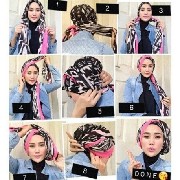 tutorial hijab turban modern - Google Search