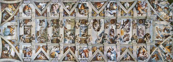 Pinturas da Capela Sistina, Cidade do Vaticano, Roma