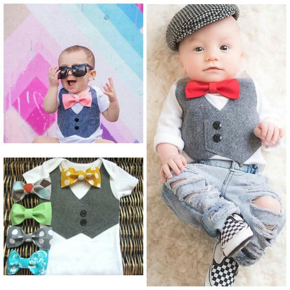 Baby Boy Clothes - Baby Boy Easter Outfit  - Grey Vest  - Boys First Birthday - Coming Home Outfit - Baby Tuxedo - First Valentines Day