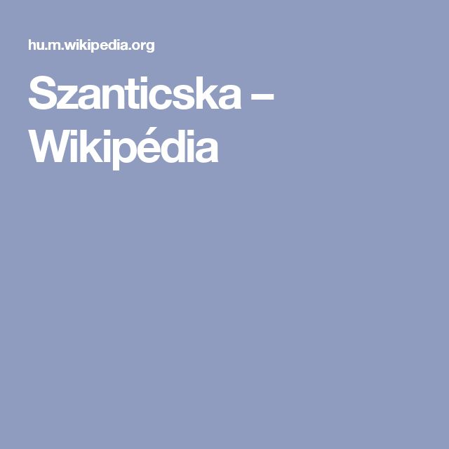 Szanticska – Wikipédia