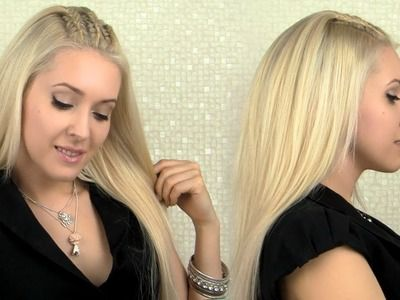 Side Swept French Fish Braid Hairstyle Long Hair