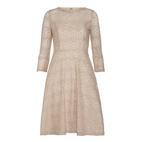 Buy Somerset by Alice Temperley Deco Lace Dress, Oyster Online at johnlewis.com