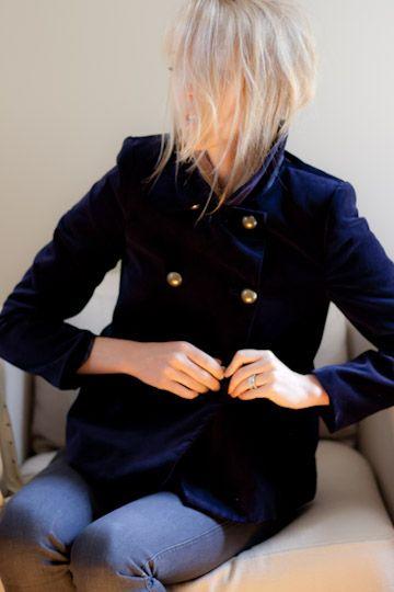 blue velvet jacket emersonmade