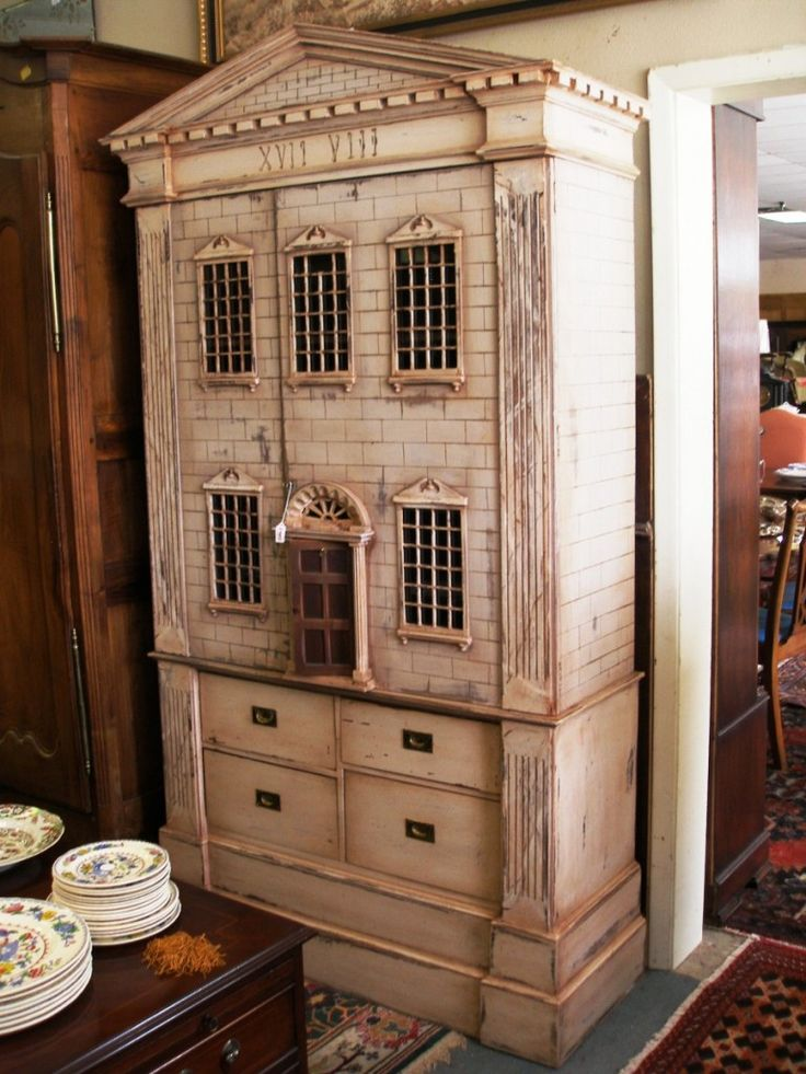 Vintage Dollhouse Furniture For Sale Part - 31: Armoire Dollhouse