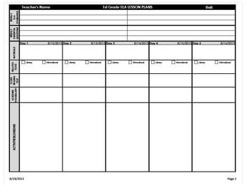 guided reading lesson plan template 5th grade