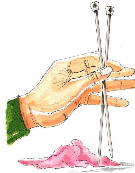 Dagens tip! Glatte strikkepinde