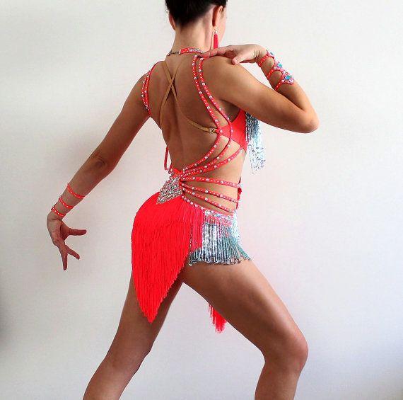 Latin Ballroom Competition Dance Dress by CrinolinAtelier on Etsy
