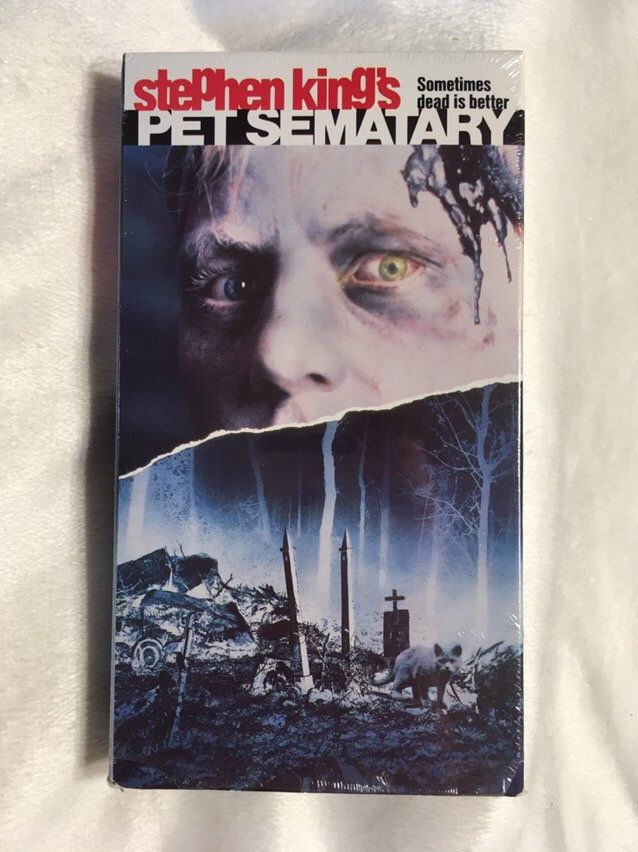 Vintage Pet Sematary Vhs Movie Horror 1990 First Release By Stephen King Vhs Movie Pet Sematary Stephen King Movies