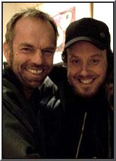 Hugo Weaving and Glendyn Ivin on the set of Last Ride