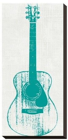 Art.com Guitar Collector I By Kevin Inge Stretched Canvas Print
