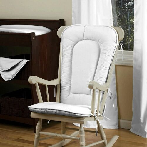 For the Nursery!!  White Rocking Chair Pad | Solid White Rocking Chair Pad | Carousel Designs