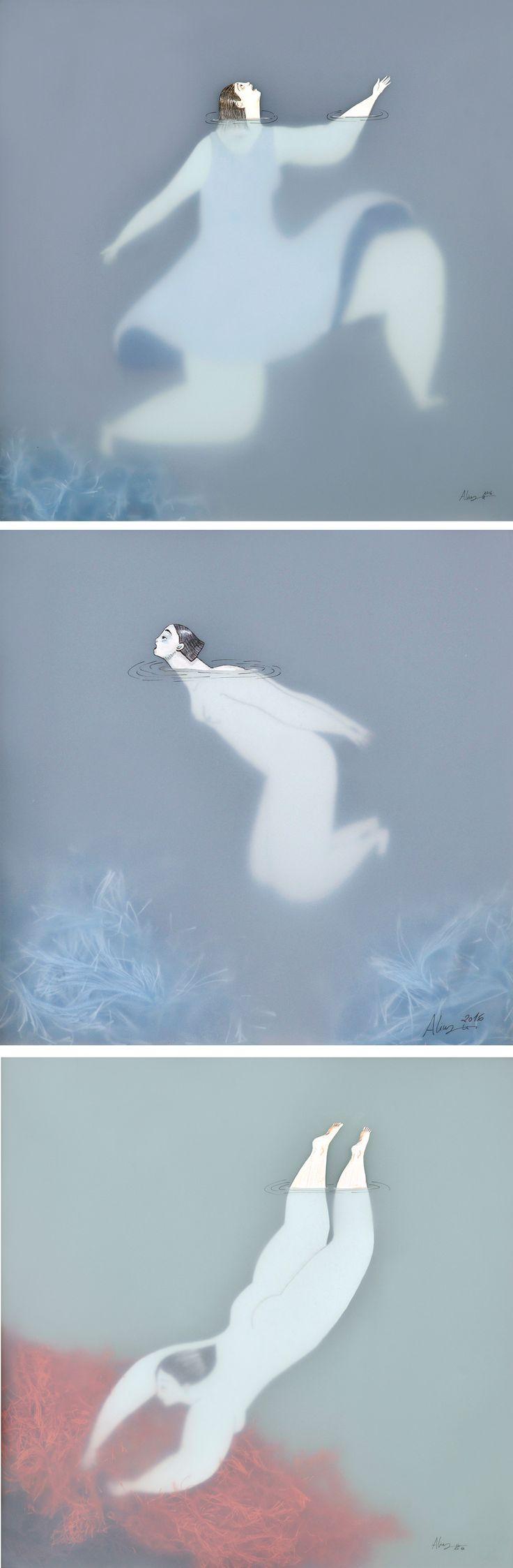 Illustration | women swimming illustration | Sonia Alins | women in the water